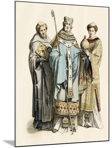 Monk, Archbishop, and Priest of the 11Th Century--Mounted Giclee Print