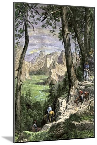 Horseback Riders Descending into Yosemite Valley, 1870s--Mounted Giclee Print