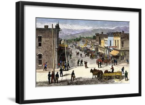 Chestnut Street in Leadville, Colorado, During the Mining Boom, 1870s--Framed Art Print