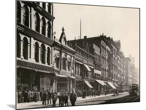 Bretano's and Other Retail Shops on Wabash Avenue South of Monroe Street, Chicago, 1890s--Mounted Giclee Print