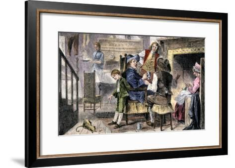 Dutch Family at Home in Colonial New York--Framed Art Print