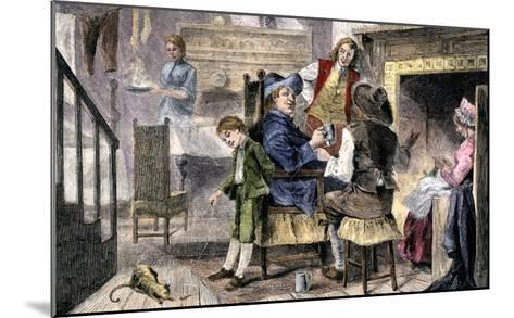 Dutch Family at Home in Colonial New York--Mounted Giclee Print