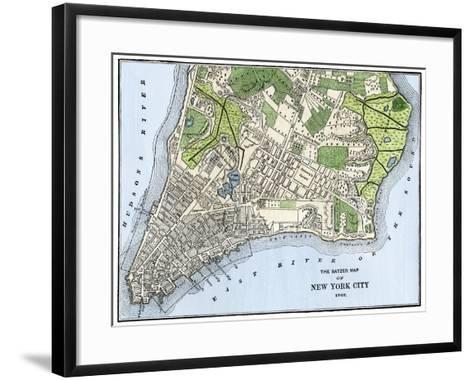 Ratzer Map of New York City, 1767--Framed Art Print