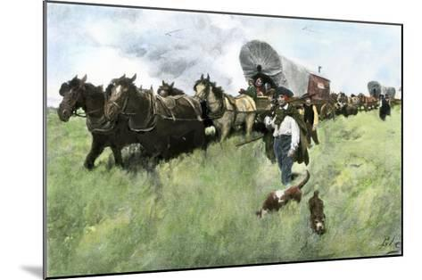 Settlers from Connecticut Entering Ohio Territory after the American Revolution--Mounted Giclee Print