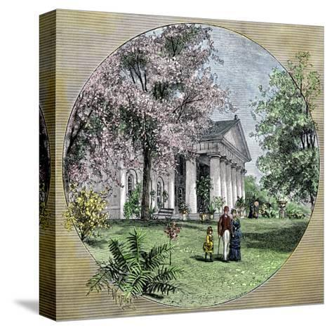 Arlington House, Residence of Robert E. Lee before the Civil War, Virginia--Stretched Canvas Print