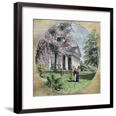 Arlington House, Residence of Robert E. Lee before the Civil War, Virginia--Framed Art Print