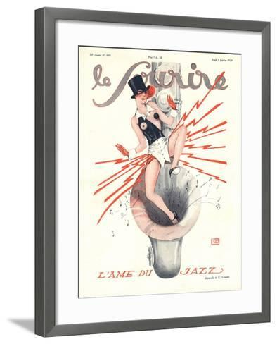 Le Sourire, Glamour Music Saxophones Erotica Magazine, France, 1920--Framed Art Print