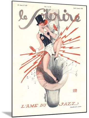 Le Sourire, Glamour Music Saxophones Erotica Magazine, France, 1920--Mounted Giclee Print