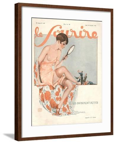 Le Sourire, Glamour Erotica, Love Suitors Magazine, France, 1927--Framed Art Print