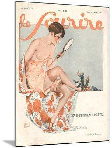 Le Sourire, Glamour Erotica, Love Suitors Magazine, France, 1927--Mounted Giclee Print