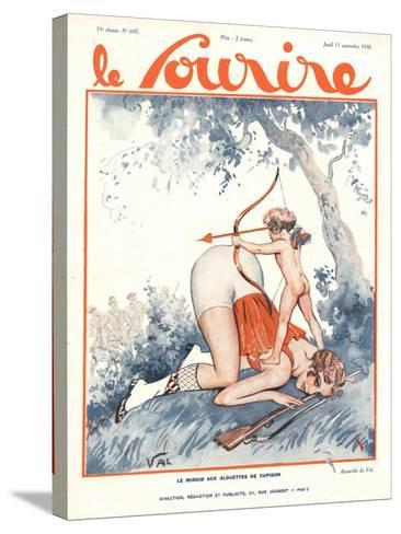 Le Sourire, Erotica Love Cupids Cherubs Magazine, France, 1930--Stretched Canvas Print
