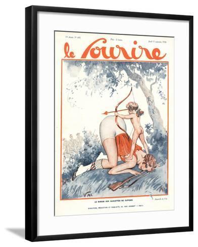 Le Sourire, Erotica Love Cupids Cherubs Magazine, France, 1930--Framed Art Print