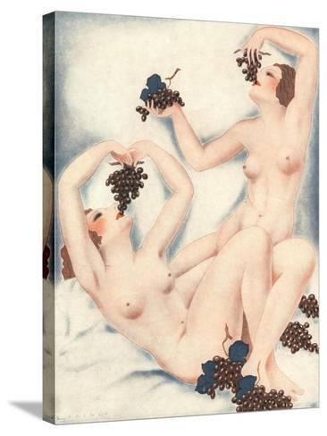 Le Sourire, Erotica Wine Grapes Sex Magazine, France, 1930--Stretched Canvas Print