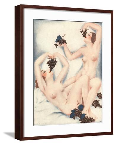 Le Sourire, Erotica Wine Grapes Sex Magazine, France, 1930--Framed Art Print