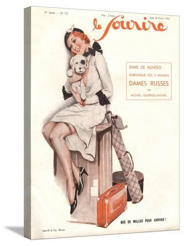 Le Sourire, Holiday Erotica Womens Magazine, France, 1932--Stretched Canvas Print