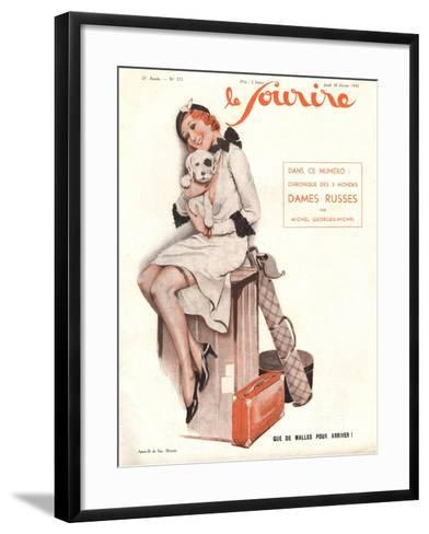 Le Sourire, Holiday Erotica Womens Magazine, France, 1932--Framed Art Print