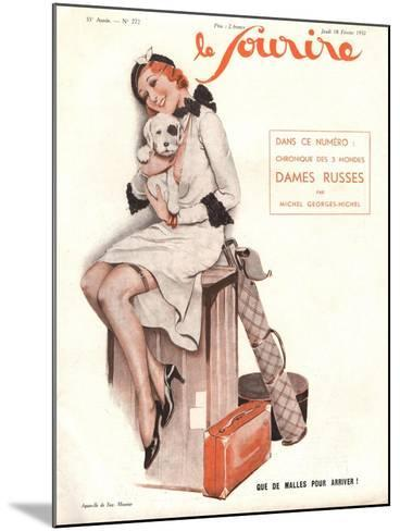 Le Sourire, Holiday Erotica Womens Magazine, France, 1932--Mounted Giclee Print