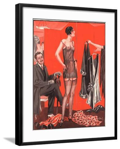 Le Sourire, Erotica Sales Womens Underwear, France, 1920--Framed Art Print
