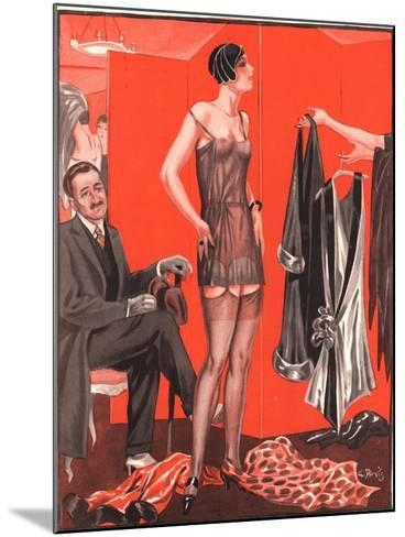 Le Sourire, Erotica Sales Womens Underwear, France, 1920--Mounted Giclee Print