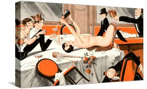 Le Sourire, Erotica Drunks Orgies Champagne Party Magazine, France, 1920--Stretched Canvas Print