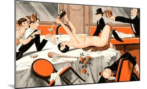 Le Sourire, Erotica Drunks Orgies Champagne Party Magazine, France, 1920--Mounted Giclee Print