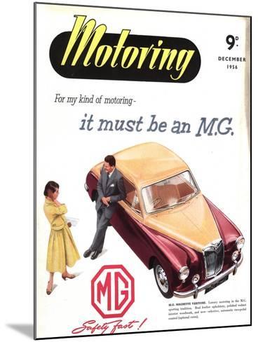 MG Cars, UK, 1950--Mounted Giclee Print