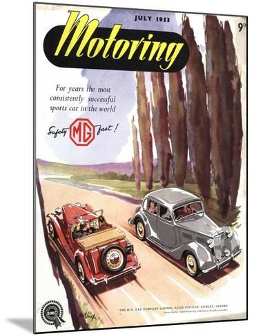 MG Convertibles, UK, 1950--Mounted Giclee Print