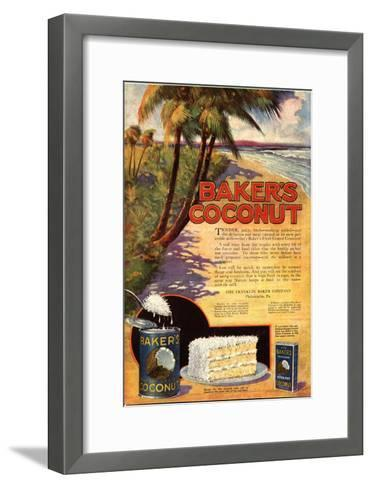 Bakers Coconuts Cakes Baking Cocoanuts, USA, 1910--Framed Art Print