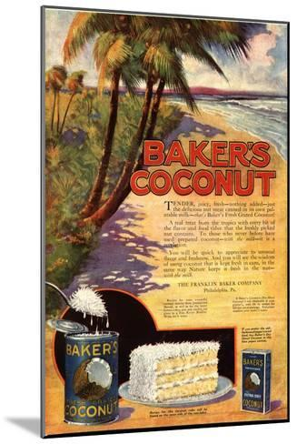 Bakers Coconuts Cakes Baking Cocoanuts, USA, 1910--Mounted Giclee Print