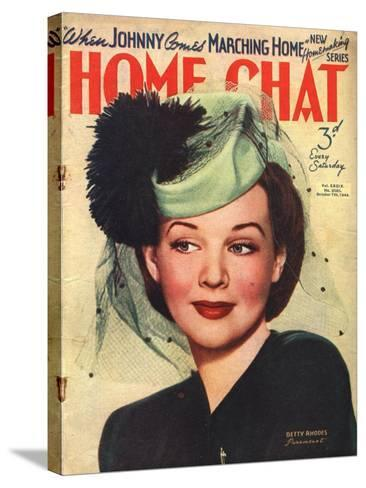 Home Chat, Hats Magazine, UK, 1940--Stretched Canvas Print