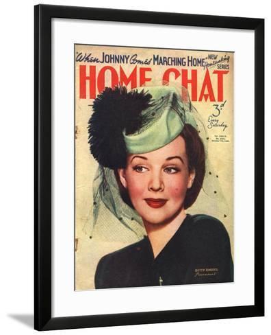 Home Chat, Hats Magazine, UK, 1940--Framed Art Print