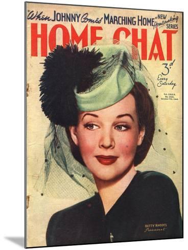 Home Chat, Hats Magazine, UK, 1940--Mounted Giclee Print