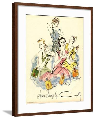 Coty, Womens, UK, 1940--Framed Art Print
