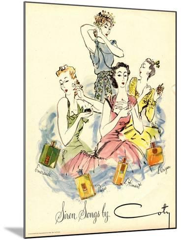 Coty, Womens, UK, 1940--Mounted Giclee Print