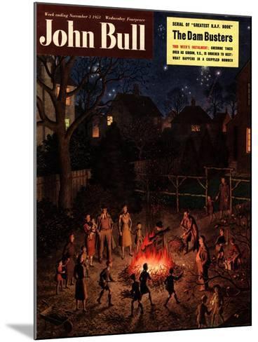 John Bull, Guy Fawkes Fireworks Bonfires Magazine, UK, 1951--Mounted Giclee Print
