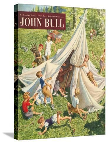 John Bull, Holiday Tents Camping Accidents Disasters Magazine, UK, 1950--Stretched Canvas Print
