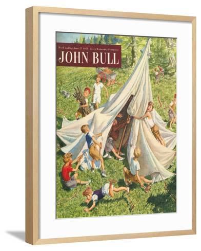 John Bull, Holiday Tents Camping Accidents Disasters Magazine, UK, 1950--Framed Art Print