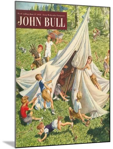 John Bull, Holiday Tents Camping Accidents Disasters Magazine, UK, 1950--Mounted Giclee Print
