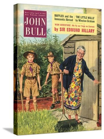 John Bull, Bob a Job Sheds Boy Scouts Magazine, UK, 1950--Stretched Canvas Print