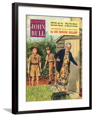 John Bull, Bob a Job Sheds Boy Scouts Magazine, UK, 1950--Framed Art Print