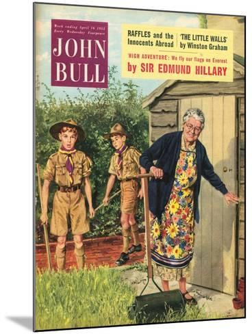John Bull, Bob a Job Sheds Boy Scouts Magazine, UK, 1950--Mounted Giclee Print