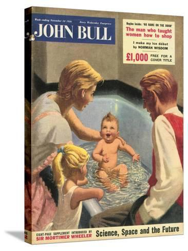 John Bull, Babies Baths Bathrooms Magazine, UK, 1950--Stretched Canvas Print