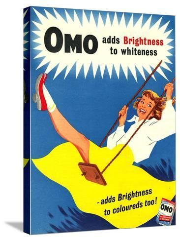 Omo, Washing Powder Products Detergent, UK, 1950--Stretched Canvas Print