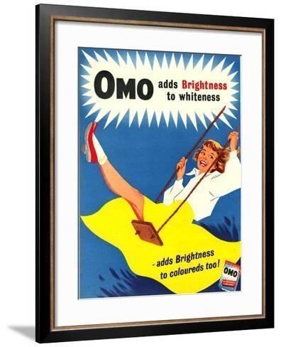 Omo, Washing Powder Products Detergent, UK, 1950--Framed Art Print