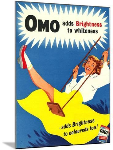 Omo, Washing Powder Products Detergent, UK, 1950--Mounted Giclee Print