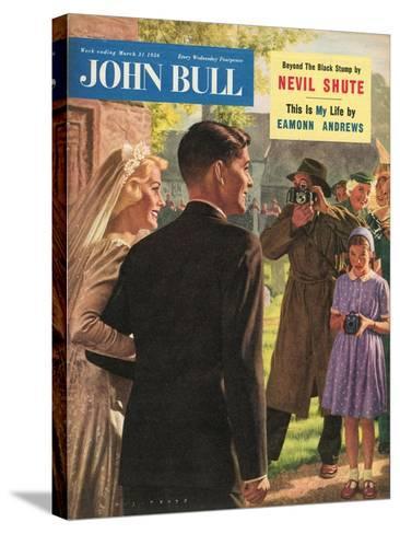 John Bull, Wedding Magazine, UK, 1950--Stretched Canvas Print