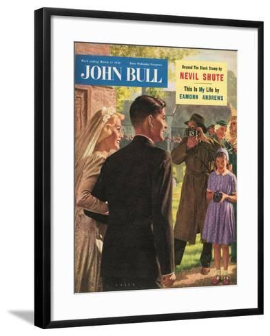 John Bull, Wedding Magazine, UK, 1950--Framed Art Print