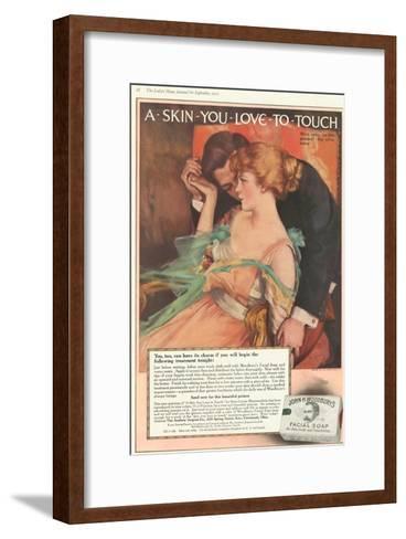 John Woodbury's, Expressions Love Woodbury's Smell Soap Hugging Aroma, USA, 1910--Framed Art Print