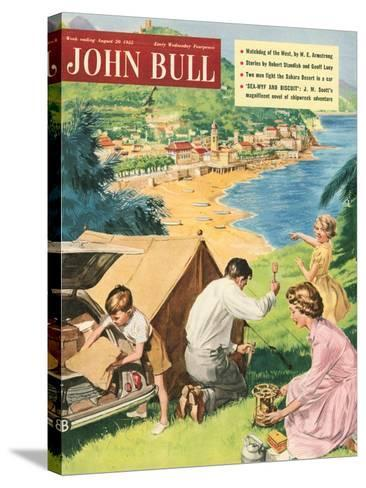 John Bull, Holiday Tents Camping Beaches Seaside Magazine, UK, 1950--Stretched Canvas Print