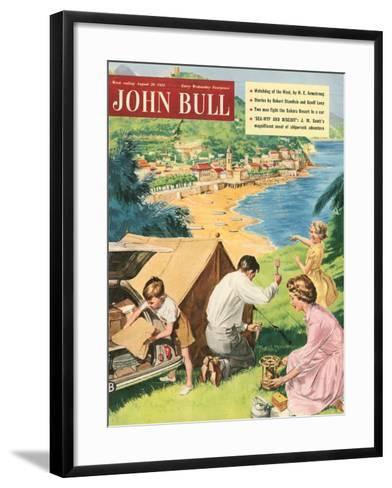 John Bull, Holiday Tents Camping Beaches Seaside Magazine, UK, 1950--Framed Art Print